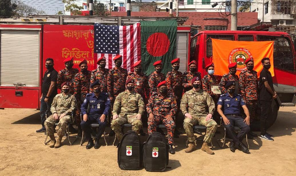 US Embassy partners with Rajshahi fire service to build capacity