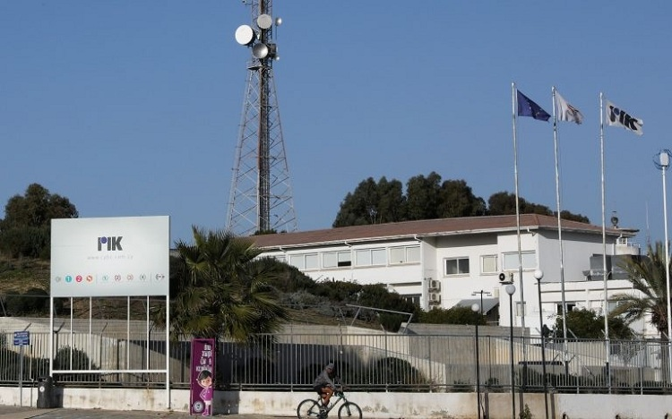 A man rides his bicycle outside the Cyprus Broadcasting Corporation headquarters in Nicosia, Cyprus February 26, 2021.Photo: Reuters
