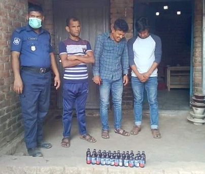 Three held with Phensedyl in Dianjpur