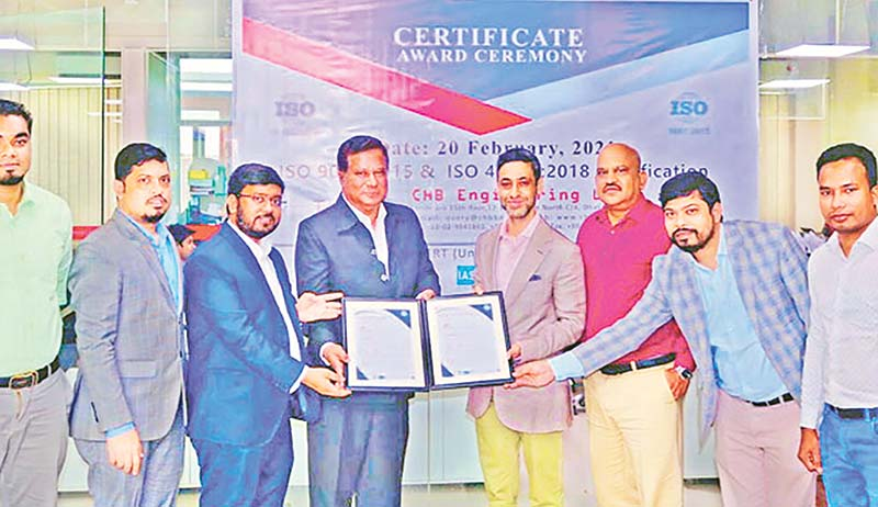 CHB Engineering got ISO certifications