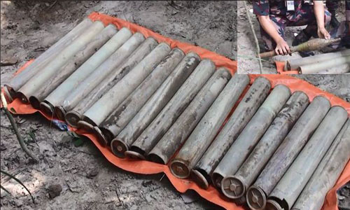 18 anti-tank rocket shells recovered from Satchhari