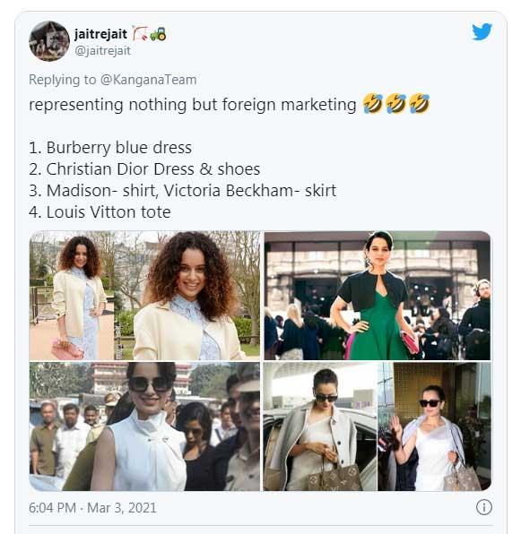 Kangana criticised