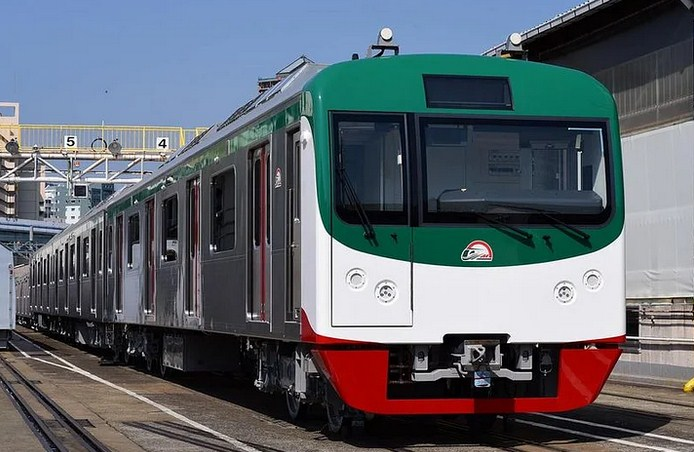 Vessel-loaded first set of metro-train departs Japan for Mongla