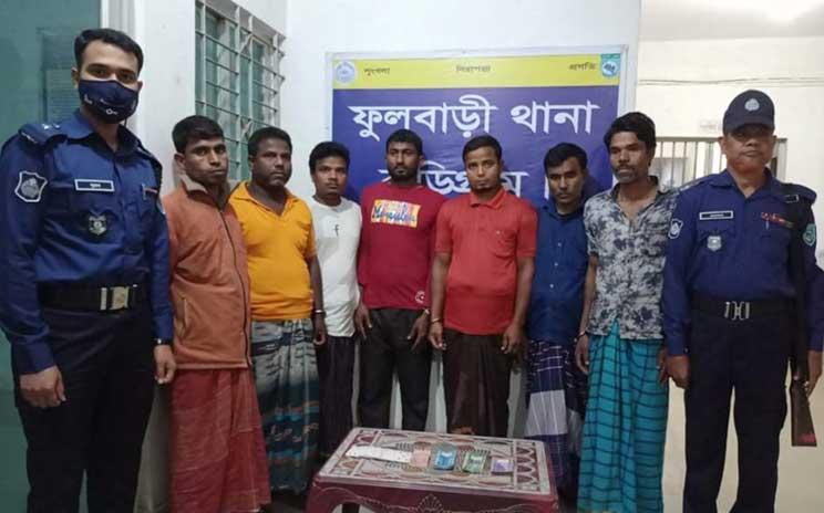Seven gamblers held in Kurigram