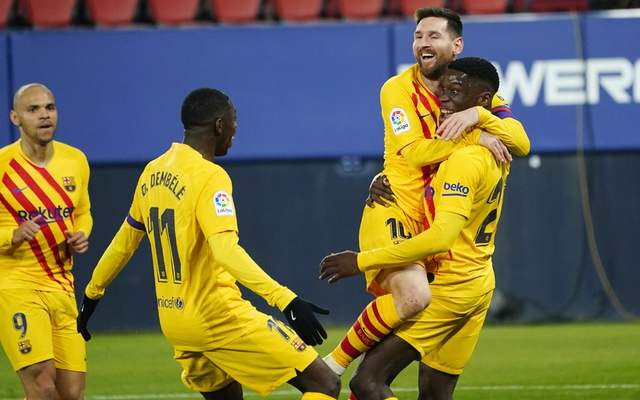 Barcelona get past Osasuna with help of two Messi assists