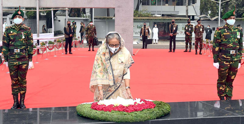 Historic March 7: PM pays homage to Bangabandhu