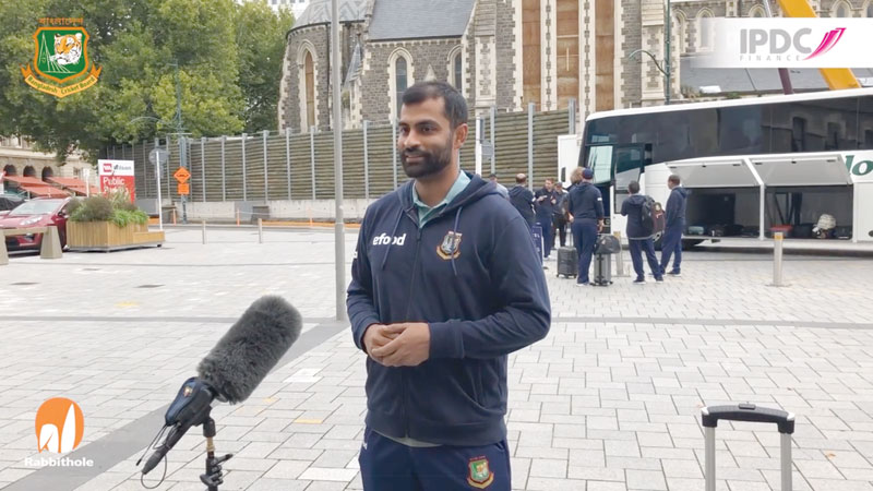 Tamim Iqbal speaks on Wednesday (March 10) after arriving in Queenstown following the 14-day mandatory self-isolation period.photo:: screenshot