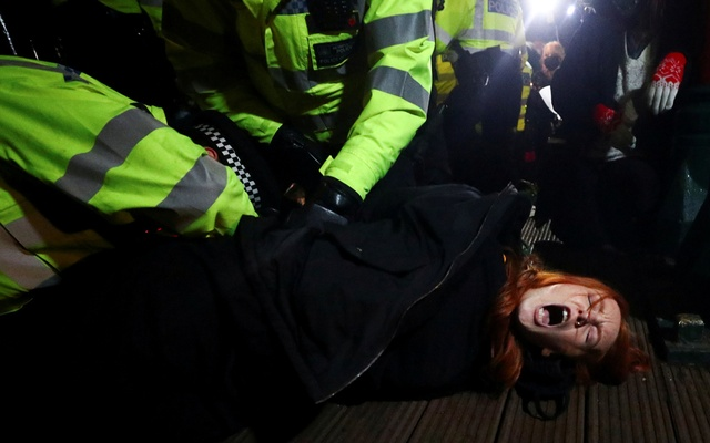 Londoners protest after police officer charged with woman's murder