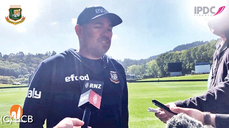 Bangladesh Head Coach Russel Domingo speaks ahead of the ODI series at the University Oval, in New Zealand on Thursday.photo:: screenshot