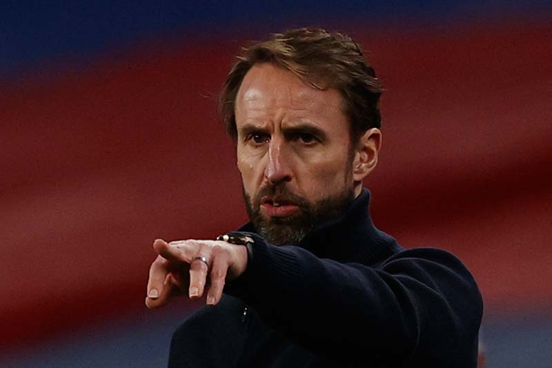England's manager Gareth Southgate gestures from the touchline during the FIFA World Cup Qatar 2022 qualification football match between England and San Marino at Wembley Stadium in London on March 25, 2021.photo: AFP