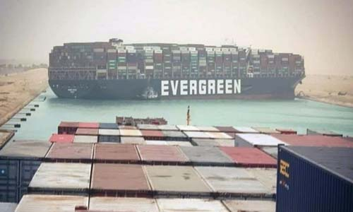 Stranded Suez container ship reported freed