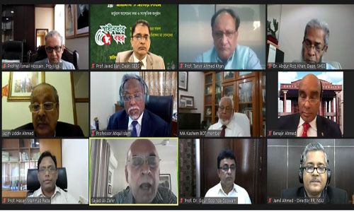 NSU holds virtual discussion on Independence Day
