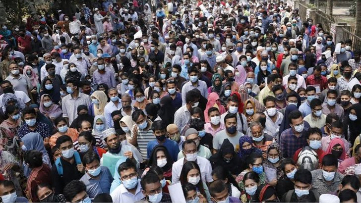 Medical admission test held amid huge crowd outside centers