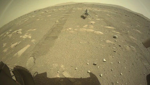 NASA's Ingenuity helicopter dropped on Mars' surface