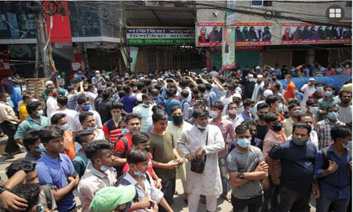 Traders stage demo for 2nd day for allowing markets to run