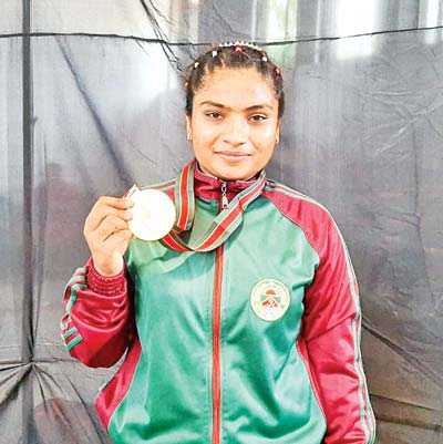 Weightlifter Mabia wins gold in Bangladesh Games