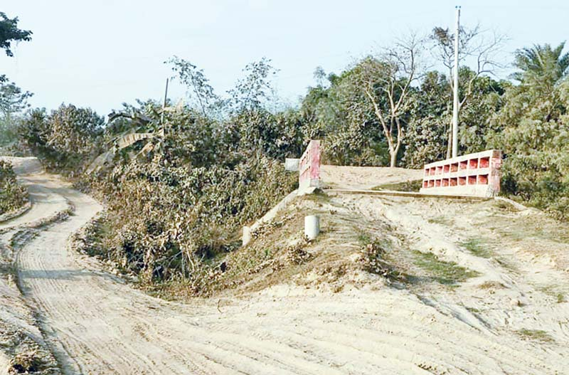 The photo shows one of the two unplanned culverts in Laxmi Kund Union of Ishwardi Upazila.photo: observer
