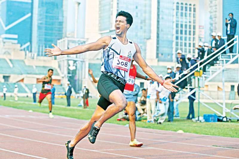 Bangladesh's fastest man Mohammad Ismail.