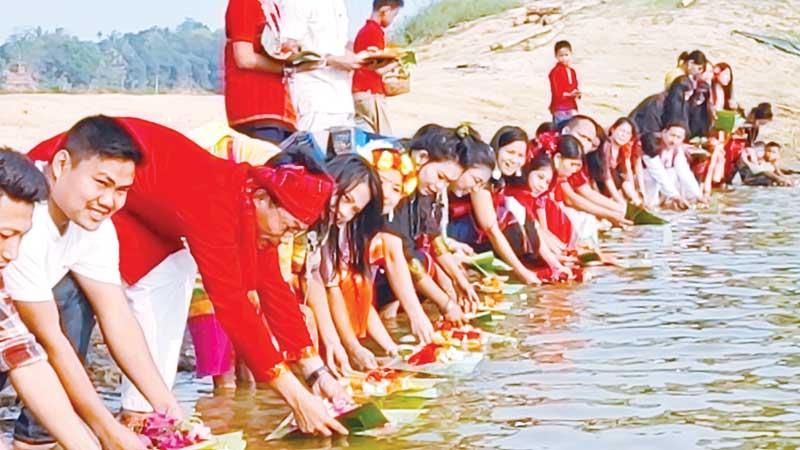 The three-day long Baisabi Festival has begun at Kaptai Lake in Rangamati
