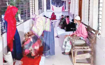 The photo shows some diarrhoea patients at Sharankhola Upazila Health Complex.photo: observer