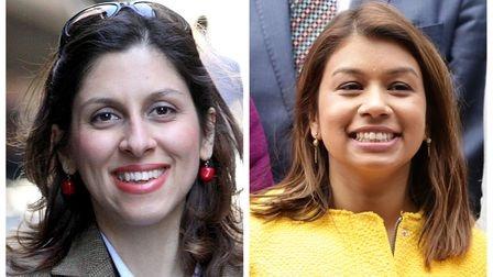 British-Iranian charity worker Nazanin Zaghari-Ratcliffe and her MP Tulip Siddiq, who represents Hampstead and Kilburn in UK. [FILE PHOTO]