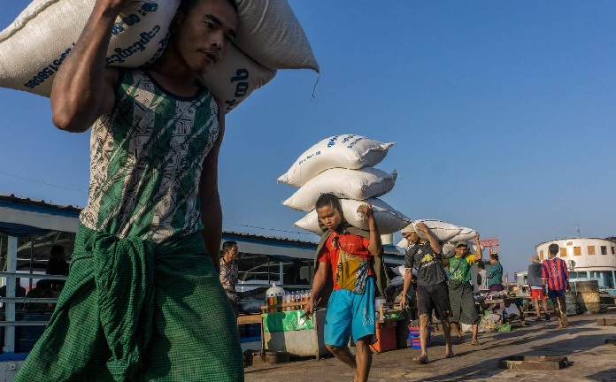 Myanmar says rice exports still on track