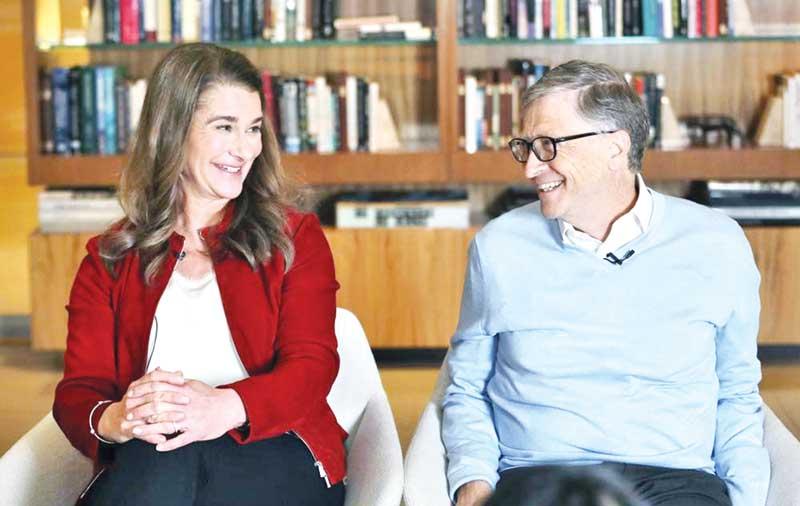 Bill Gates (L) and Melinda Gates in a file photo.