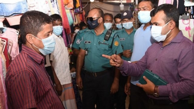 DMP mobile court fines 15 people for not wearing masks