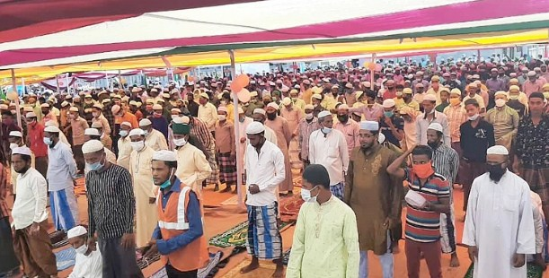 Rohingyas celebrate first Eid at Bhasan Char