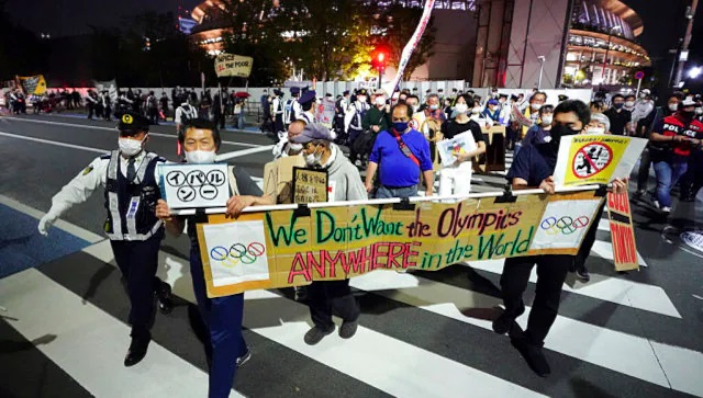 The IOC downplayed concerns over Japanese public opinion calling for the Tokyo Olympics to be cancelled. AP