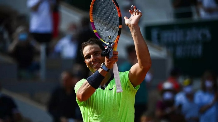 Rafael Nadal advanced to his 14th French Open semi-final. Photo: AFP