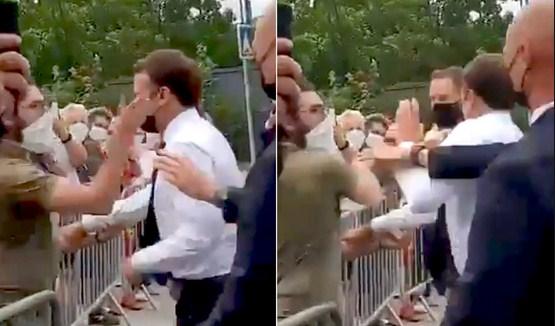 Man who slapped Macron gets jail sentence