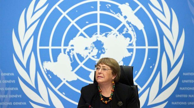 UN High Commissioner for Human Rights Michelle Bachelet attends a news conference at the European headquarters of the United Nations in Geneva, Switzerland, December 9, 2020. Photo: Reuters/Denis Balibouse