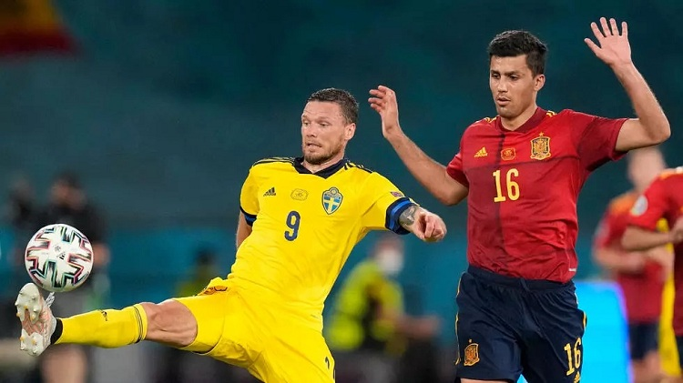 The UEFA Euro 2020 Football Championship match between Spain and Sweden on June 14, 2021 in Seville. Photo: AFP