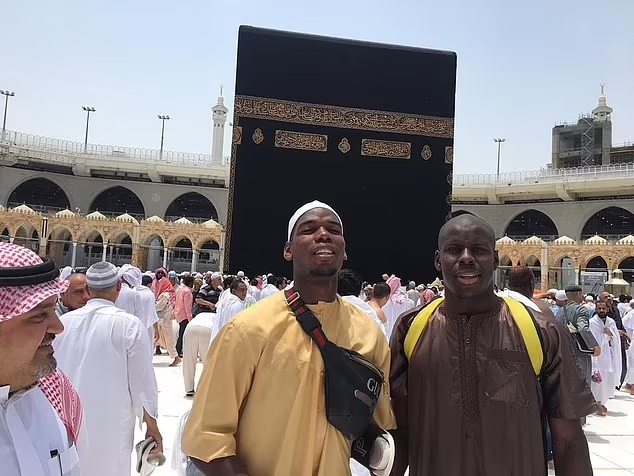 Pogba became a Muslim in 2019 and has travelled to Mecca, Islam's place of pilgrimage
