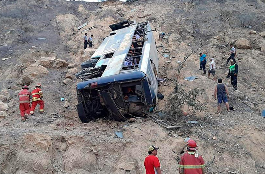 27 miners killed in Peru bus accident
