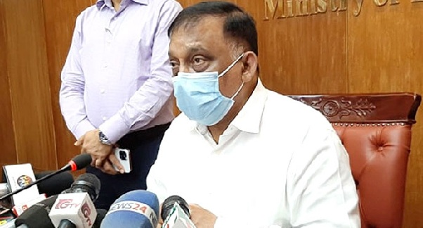 Home Minister Asaduzzaman Khan Kamal talks to journalists following a meeting on law and order situation on the occasion of upcoming Eid-ul-Azha at the Home Ministry in Dhaka on Wednesday.