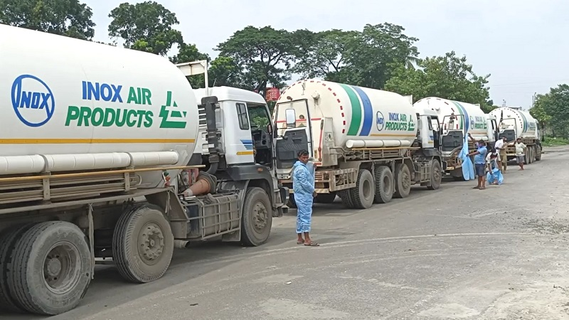 179 metric tonnes of oxygen imported from India
