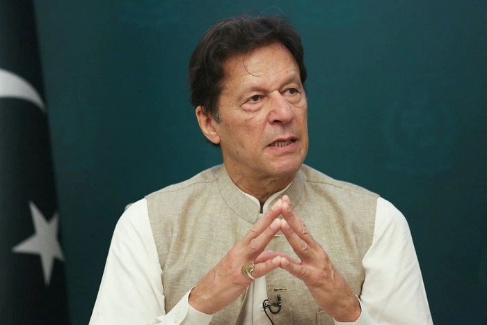 Pakistan's Prime Minister Imran Khan speaks during an interview with Reuters in Islamabad, Pakistan June 4, 2021. File Photo: Reuters
