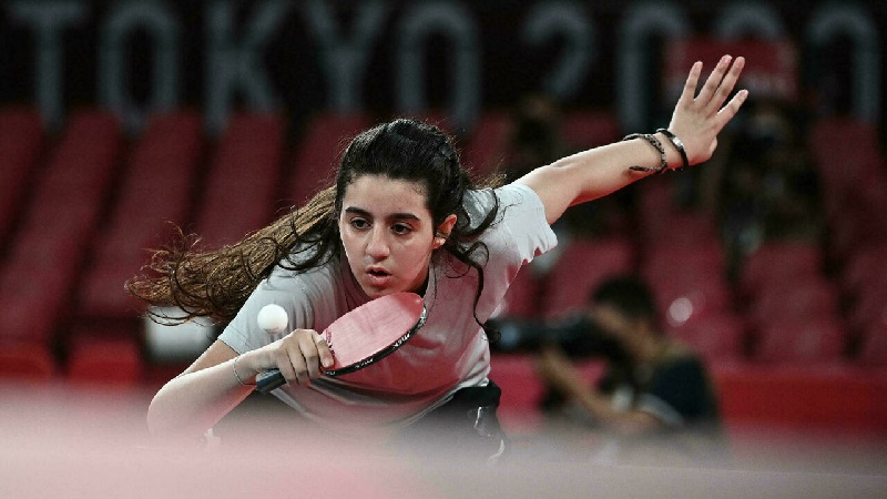 Syria's Hend Zaza, 12, lost in the preliminary round of the Olympics table tennis competition Anne-Christine POUJOULAT AFP