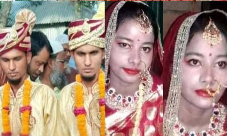 Twin brothers marry twin sisters!