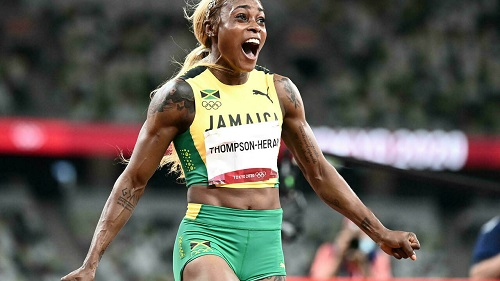 Jamaica's Elaine Thompson-Herah retained the women's Olympic 100 metres title with the second-fastest time in history Jewel SAMAD AFP