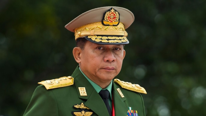 Myanmar's powerful military chief, Senior General Min Aung Hlaing
