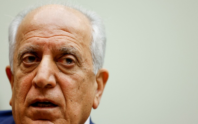 US Special Representative for Afghanistan Reconciliation Zalmay Khalilzad testifies about the potential withdrawal of US military forces from Afghanistan at a hearing before the House Foreign Affairs Committee on Capitol Hill in Washington, US May 18, 2021. REUTERS