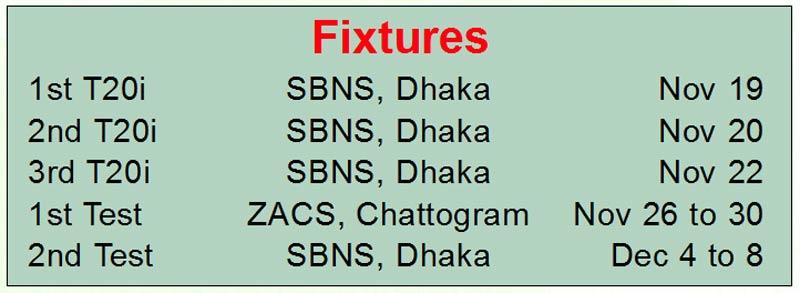 Pakistan to visit Bangladesh in November