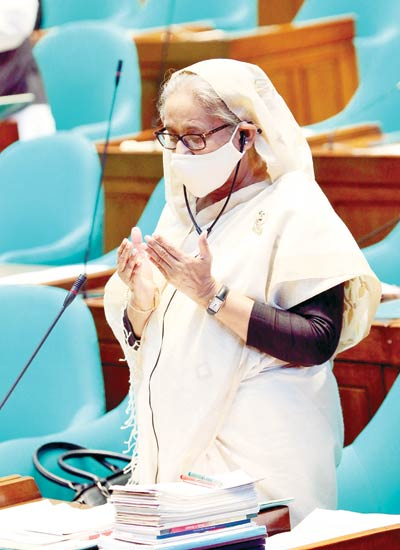 Hasina urges all to follow health protocols even after vaccination