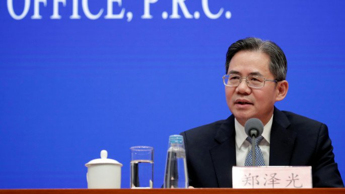 Chinese Vice Minister of Foreign Affairs Zheng Zeguang attends a news conference on the state of trade negotiations between China and U.S. in Beijing, China December 13, 2019. Photo :Reuters