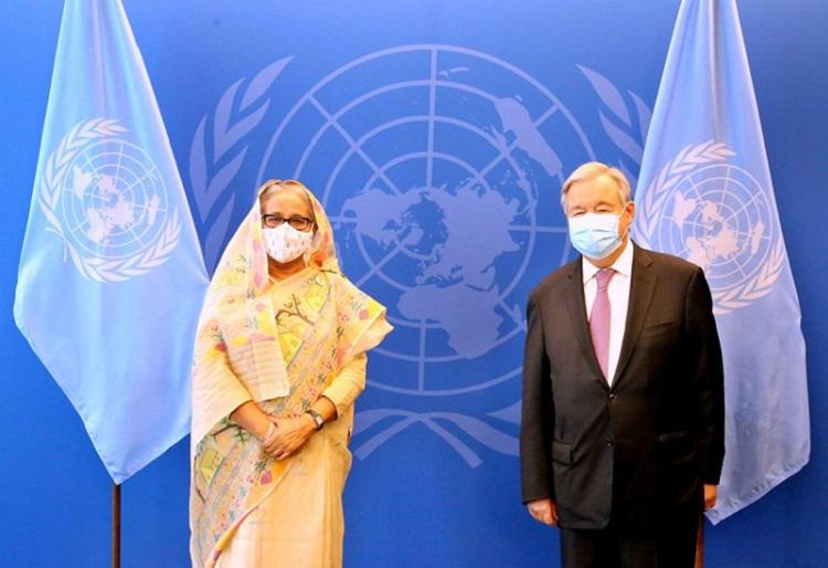 UN chief praises Hasina's leadership
