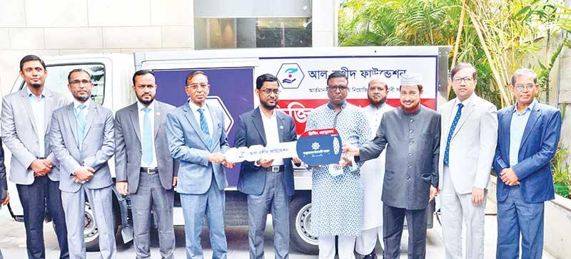 SJIBL donates a freezing ambulance to Al-Rashid Foundation