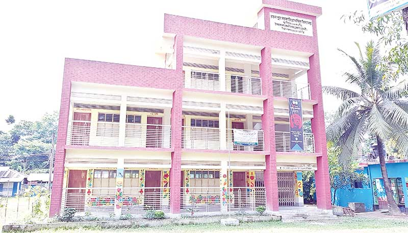 The new building of Ratanpur Government Primary School in Feni.photo: observer